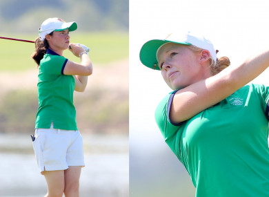 Irish duo Leona Maguire (left) and Stephanie Meadow are both in action at the US Open.