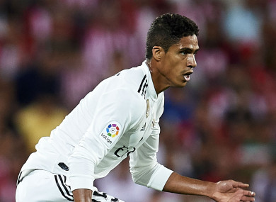 Real Madrid defender Raphael Varane.