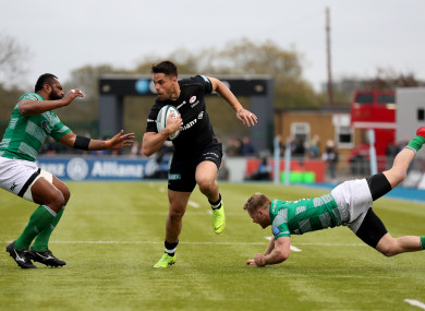 Sean Maitland starts on the wing for Sarries.