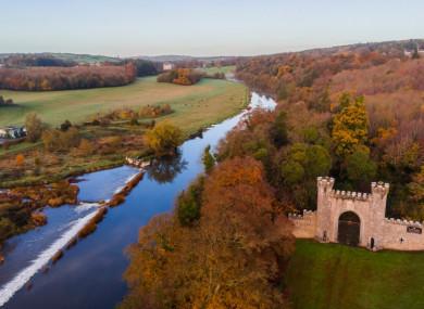 Views of Slane Castle and the River Boyne.
