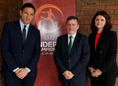 Noel Mooney, FAI President Donal Conway, and FAI Interim Chief Executive Rea Walshe.