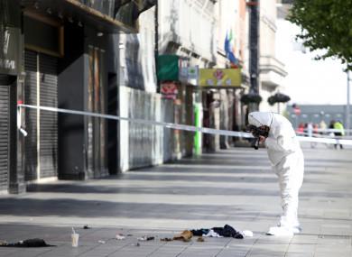 Garda Technical Bureau at the scene of the stabbing