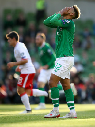 Ireland: down three.