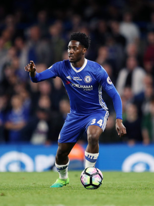 Ola Aina in action for Chelsea in 2017.