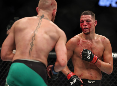 Nate Diaz lost to Conor McGregor via majority decision in their rematch in August 2016.