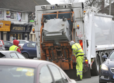 A waste collection truck in Dublin in 2012