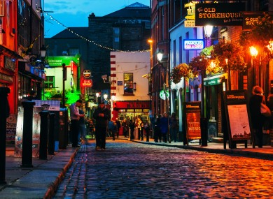 Crown Alley in Temple Bar, home of Cafe Mineiro