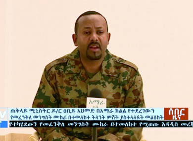 Ethiopia's Prime Minister Abiy Ahmed announces a failed coup as he addresses the public on television