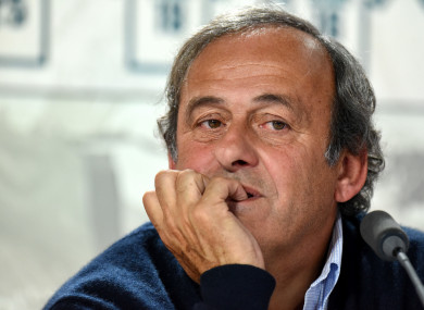 Platini: banned from football for four years for ethics violations.