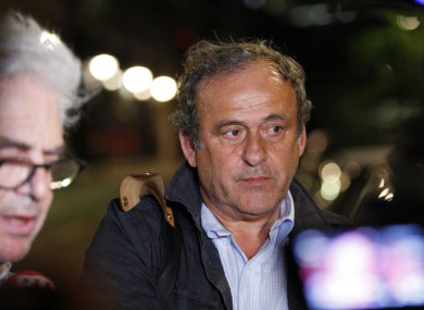 Platini was released on Wednesday.