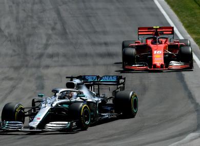 Lewis Hamilton at the Canadian Grand Prix.