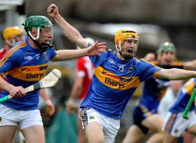 Jake Morris celebrating Tipperary's All-Ireland U21 final win last August.