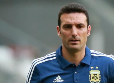 Argentina head coach Lionel Scaloni.