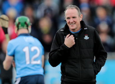 Dublin hurling boss Mattie Kenny.