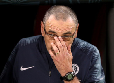 Maurizio Sarri is set for a return to Italy.