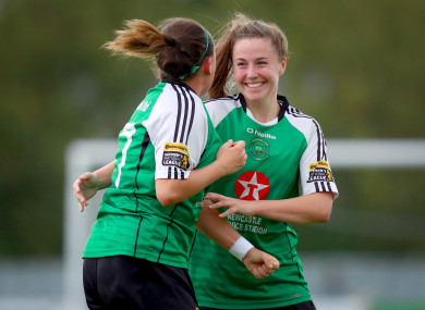 Eleanor Ryan-Doyle (right) scored the winner for Peamount.