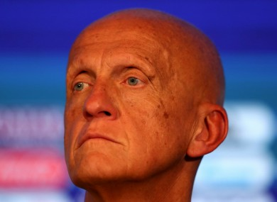 Fifa chief Pierluigi Collina.