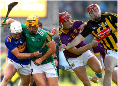 Tipperary, Limerick, Wexford and Kilkenny will be in action in the provincial finals.