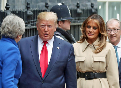 President Donald Trump meeting UK Prime Minister Theresa May today.