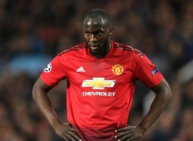 Manchester United striker Romelu Lukaku,