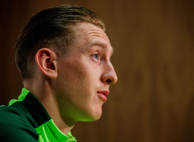 Ronan Curtis speaking on international duty for Ireland at the start of the month.