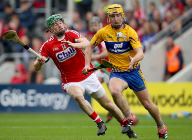 Cork's Seamus Harnedy and Clare's Colm Galvin are in opposition on Sunday.