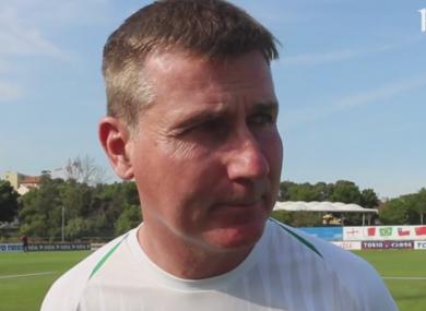 Ireland U21 boss Stephen Kenny speaking to FAI TV.