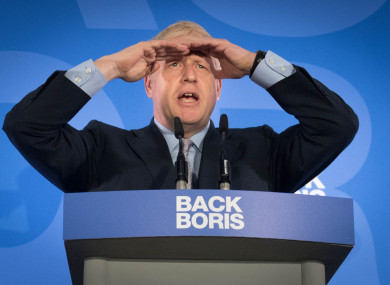 Boris Johnson during the launch of his leadership campaign.