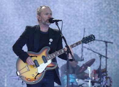 File photo of Thom Yorke performing of Radiohead performing onstage.