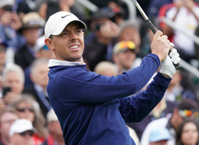 Rory McIlroy during Day 1 of the US Open at Pebble Beach.