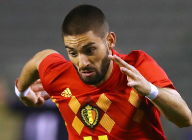 Yannick Carrasco (file pic).