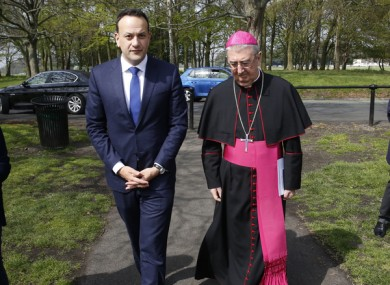 Leo Varadkar and Archbishop Diarmuid Martin.