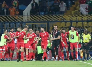 Tunisia are through to the quarter-finals.