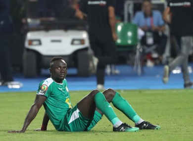 Mane looking dejected after Senegal lost out to Algeria in the African Cup of Nations final.