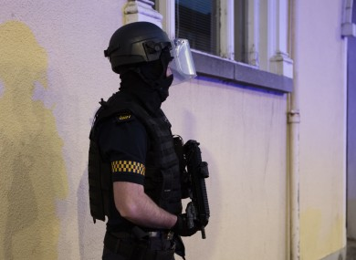 File photo of armed gardaí.