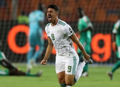 Algeria striker Baghdad Bounedjah.