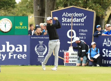 Scottish Open joint-leader Bernd Wiesberger at the 9th tee.