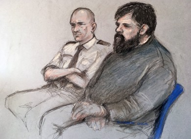 Court sketch of Carl Beech