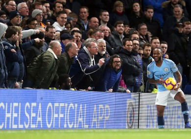 Sterling was subjected to racial abuse during last December's Premier League fixture.