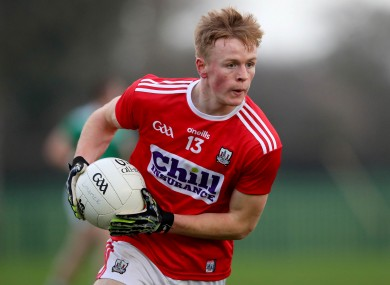 Damien Gore chipped in with 1-3 for Cork (file pic).