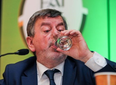 FAI president Donal Conway during a press conference on Saturday.