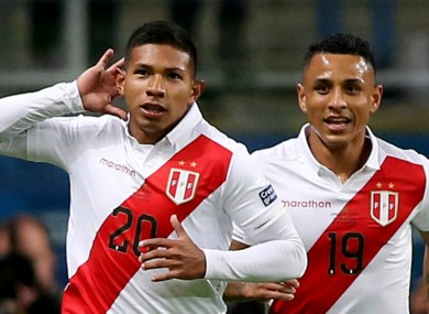 Edison Flores and Yoshimar Yotun were on target for Peru.