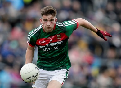 Evan O'Brien was in fine form for Mayo on Wednesday night.