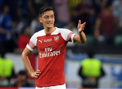Ozil has been linked with a move away from Arsenal.
