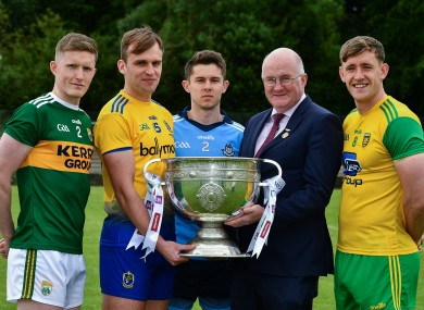 The All-Ireland senior football launch took place yesterday in Monaghan.