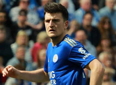 Leicester City and England international Harry Maguire.
