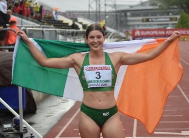 Silver star: Ireland's Kate O'Connor.