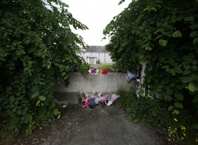 Flowers at the site where Ana was murdered after the trial concluded last month.