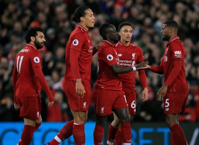 Three Liverpool players feature on the list.