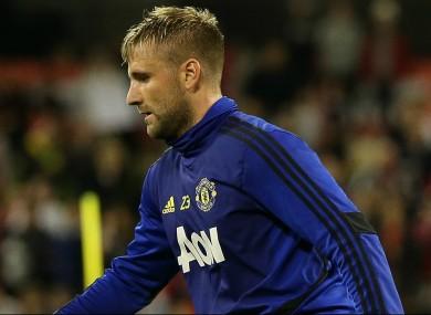 Manchester United's Luke Shaw.